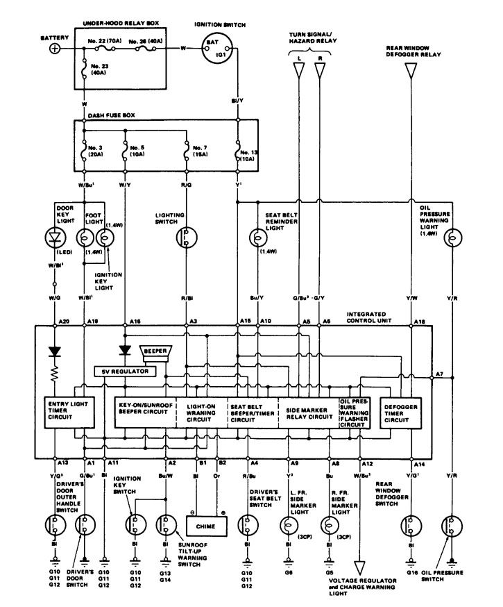 acura integra  1986  - wiring diagrams