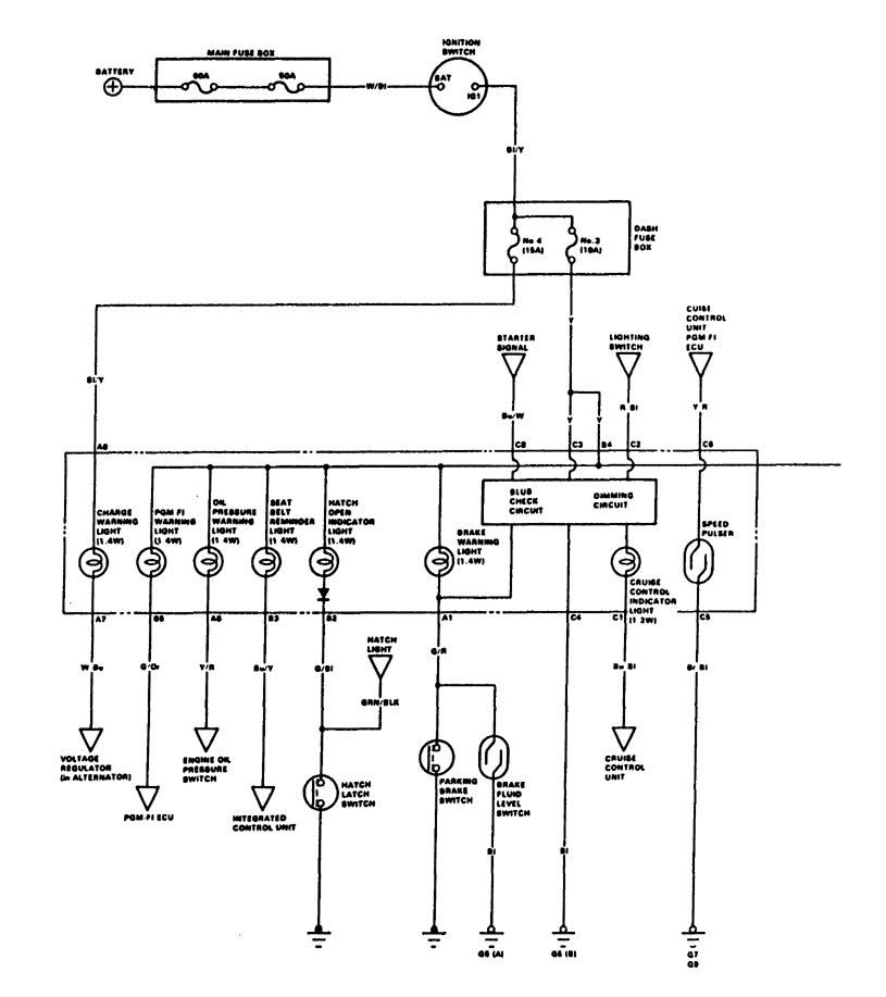 acura integra  1988  - wiring diagrams