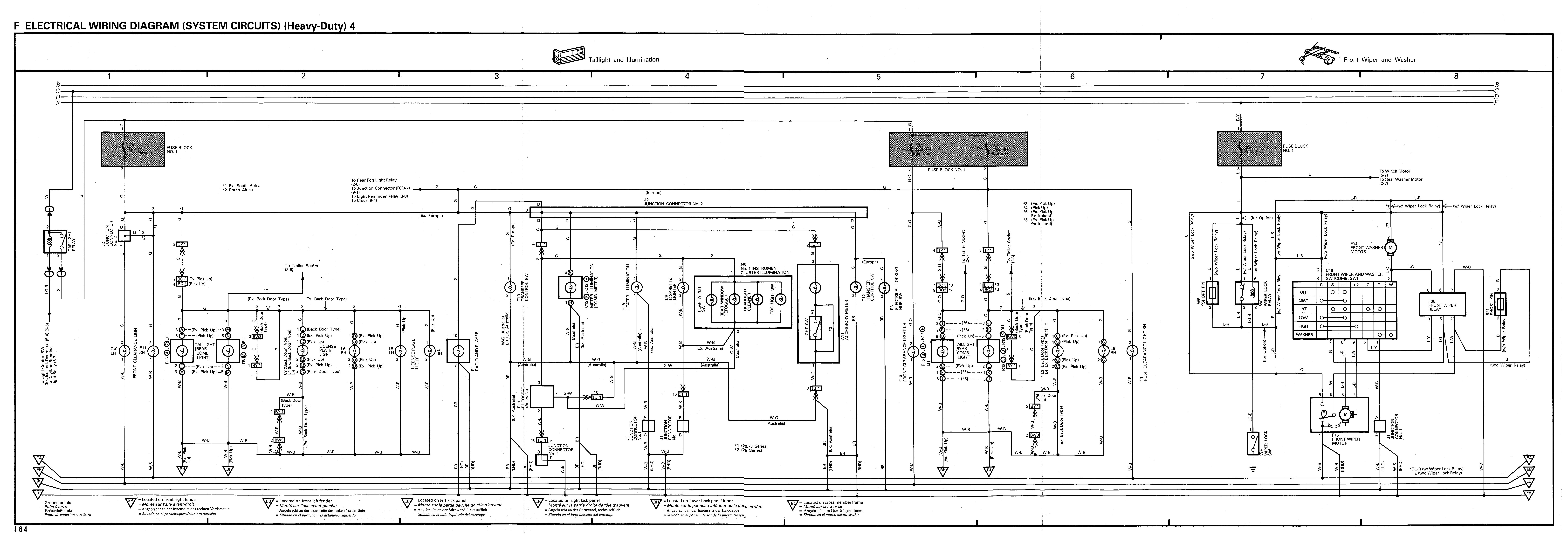 Toyota Land Cruiser 1990 1998 Electrical Wiring Diagram Rheostat Heavy Duty 4