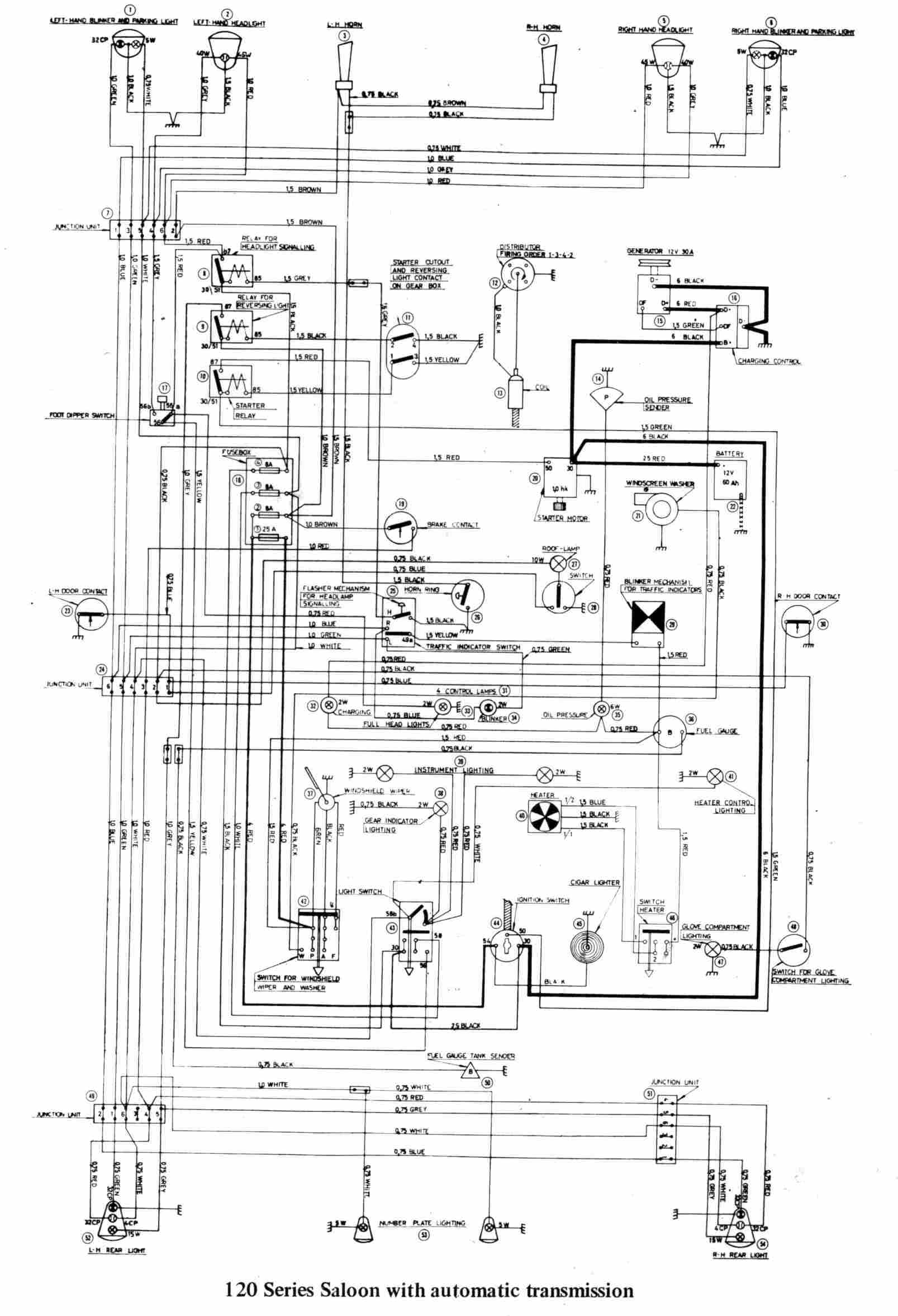 volvo 122s - wiring diagrams