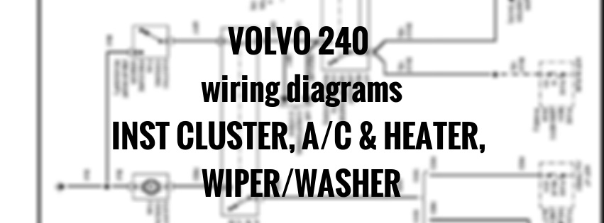 Volvo 240  1991  - Wiring Diagrams  C