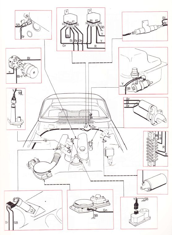 volvo 240  1975  wiring diagrams cl fuel injection volvo 240 engine wiring diagram volvo 240 engine bay diagram