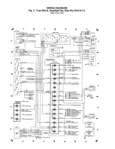 Volvo 240 (1993) - wiring diagrams - Fuse block, Headlight Sw, Step rly  (grid 8 - 11) - Carknowledge.info | Volvo 240 Headlight Wiring |  | Carknowledge.info