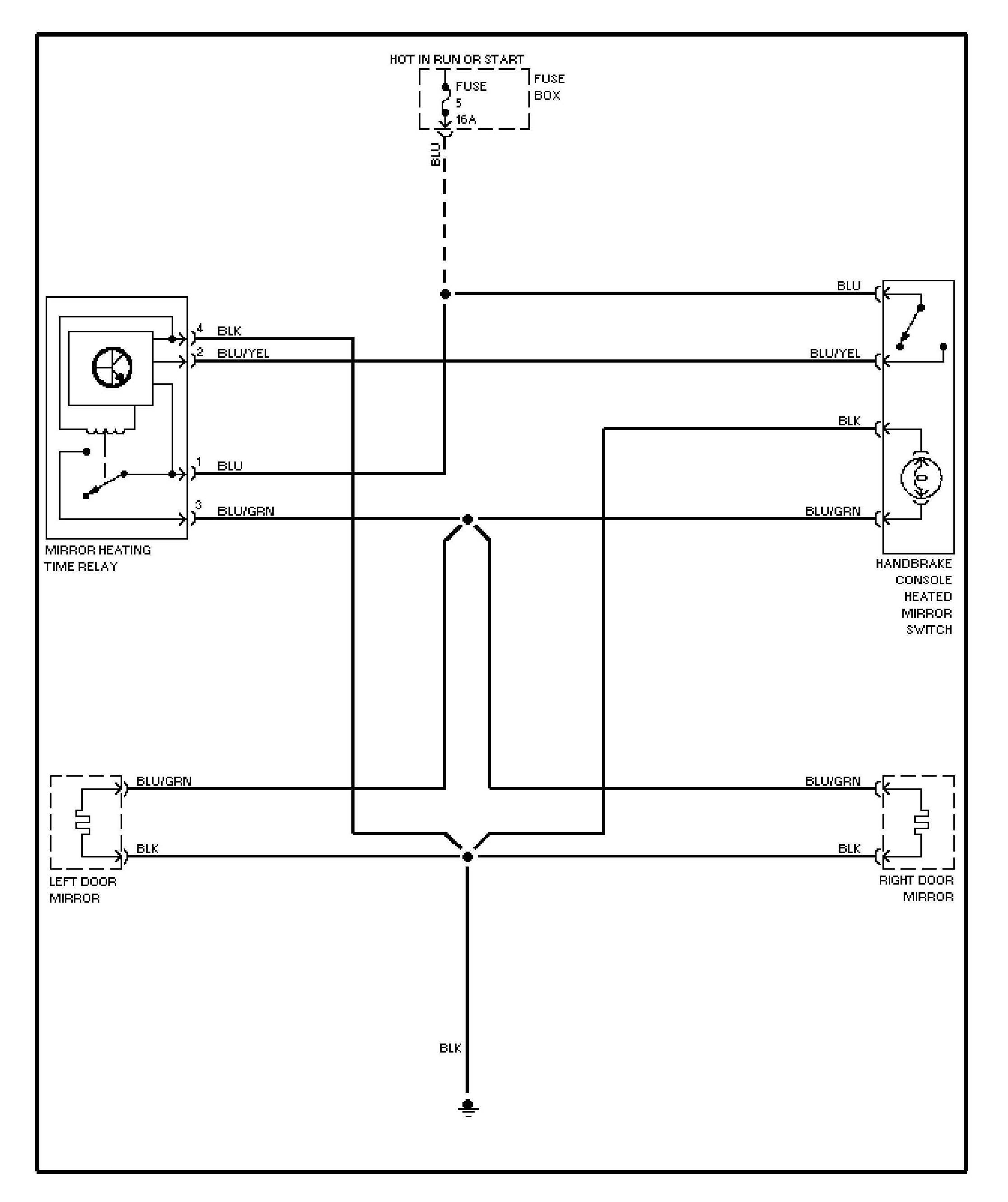heated mirror wiring diagram s air conditioning wiring