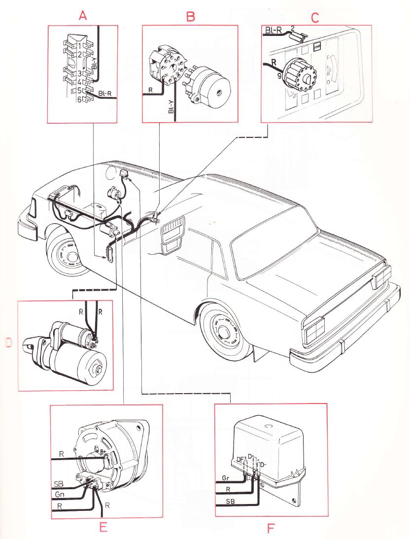 240 Volvo Engine Fuse Diagram Wiring Library Ignition 1975 Diagrams Main Harness