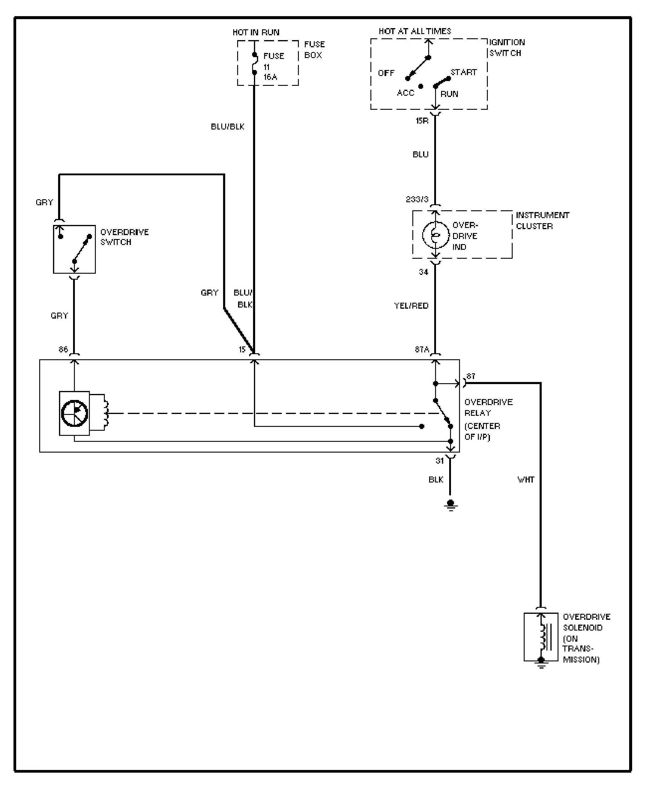 Volvo 240 1993 Wiring Diagrams Overdrive Circuit Carknowledge Diagram