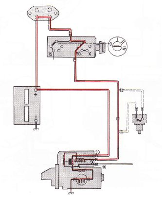 volvo 240 1975 wiring diagrams starting circuits. Black Bedroom Furniture Sets. Home Design Ideas