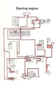 Volvo 240 (1975) - wiring diagrams - starting engine ... on bmw 735i engine diagram, chevy corsica engine diagram, pontiac lemans engine diagram, jeep grand wagoneer engine diagram, ford cortina engine diagram, volvo s80 t6 engine diagram, volvo 240 fuse panel, mercedes 500 engine diagram, porsche 356 engine diagram, volvo 240 spark plugs, volvo 240 firing order, bmw m3 engine diagram, volvo 760 engine diagram, volvo t5 engine diagram, audi quattro engine diagram, jeep comanche engine diagram, volvo 240 dl, amc eagle engine diagram, volvo 240 timing marks, pontiac sunbird engine diagram,