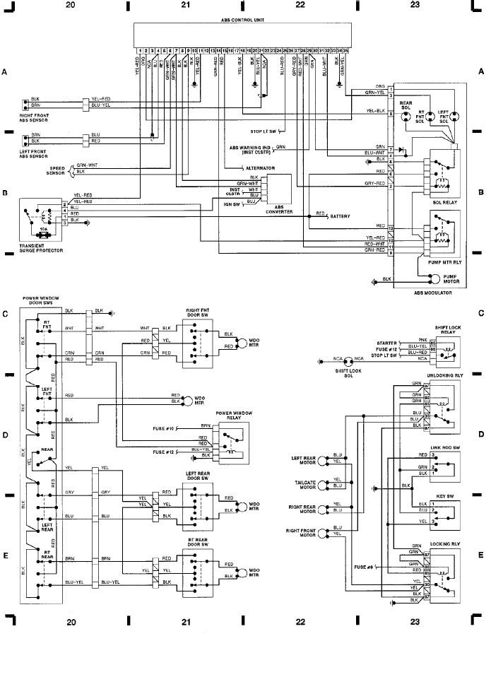 Volvo 240 Wiper Wiring Diagram : Volvo wiring diagrams abs ctrl power window doors