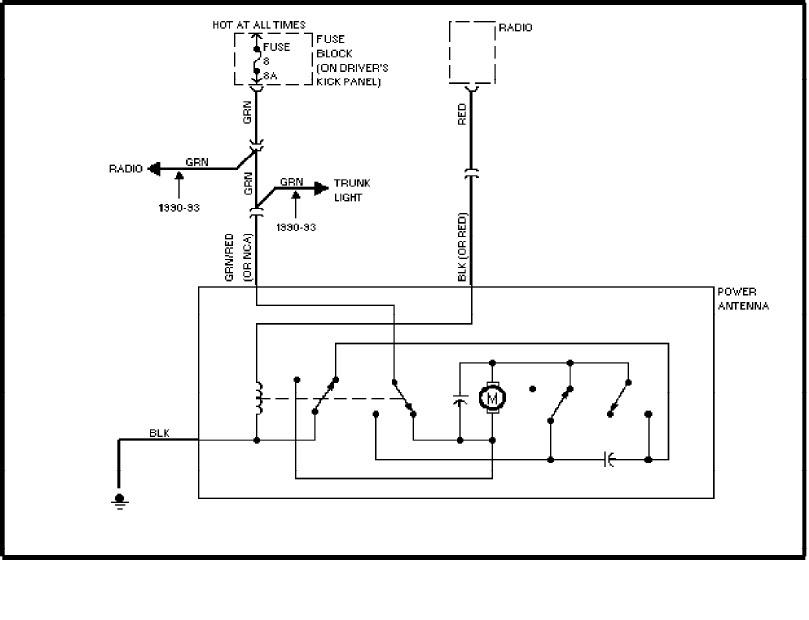 volvo 240 1991  1993  wiring diagrams  power antenna