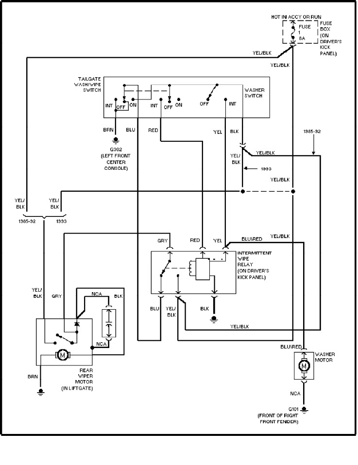 Volvo 240 Wiper Wiring Diagram : Volvo wiring diagrams rear washer