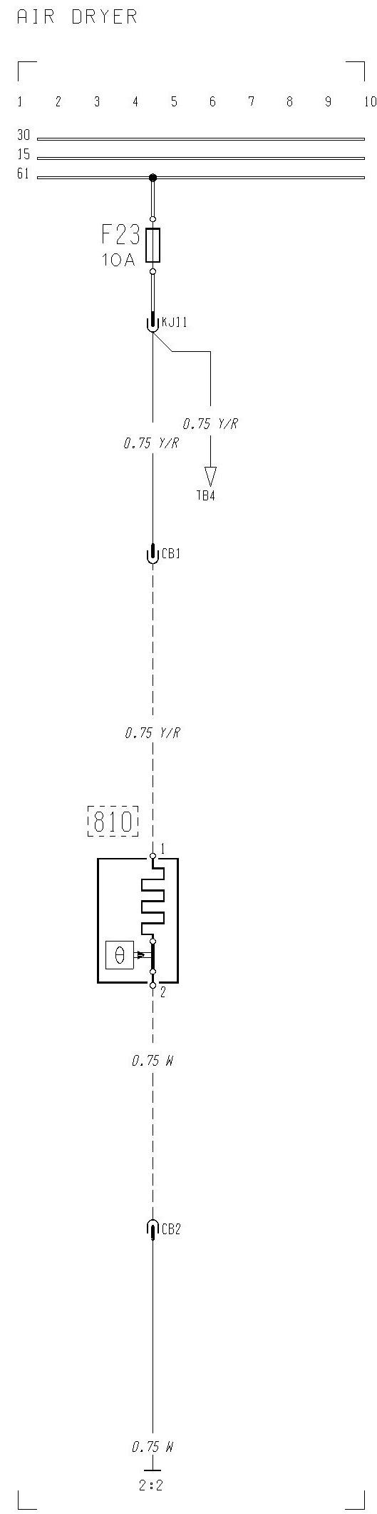 Volvo F12  F16 - Wiring Diagram - Air Dryer