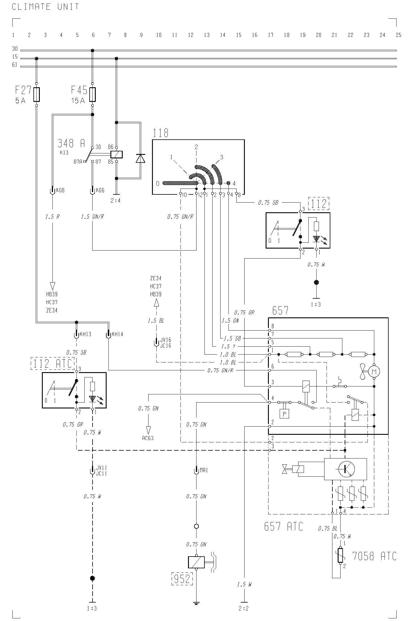 volvo f12 f16 wiring diagram climate unit carknowledge rh carknowledge info Volvo 240 Fuse Diagram 1992 Volvo 960 Radio Wire Diagram