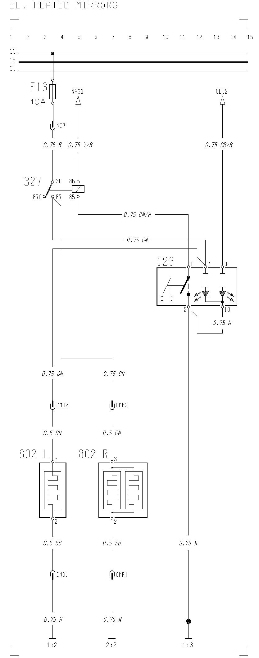 Heated Mirror Wiring Diagram Trusted Diagrams Astro Van Volvo F12 F16 El Mirrors Carknowledge And Controls
