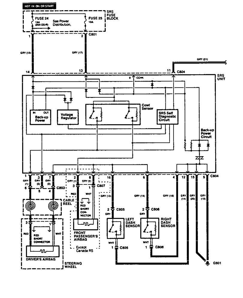 acura integra 1994 wiring diagrams air bags. Black Bedroom Furniture Sets. Home Design Ideas