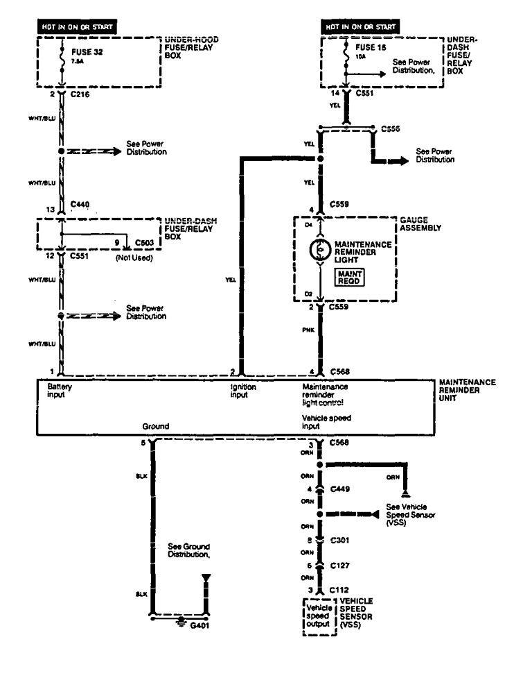 Acura Integra (1994) - wiring diagrams - audible warning ...