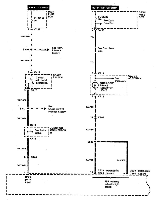 Acura Integra  1990  - Wiring Diagrams - Brake Controls