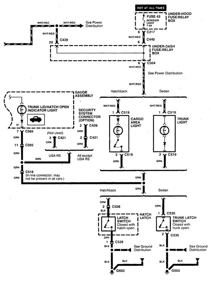 acura integra  1998 - 1999  - wiring diagrams