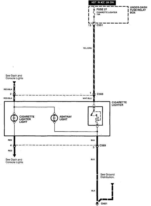 acura integra (1998 2001) wiring diagrams cigar lighter car cigarette lighter plug acura integra wiring diagram cigar lighter