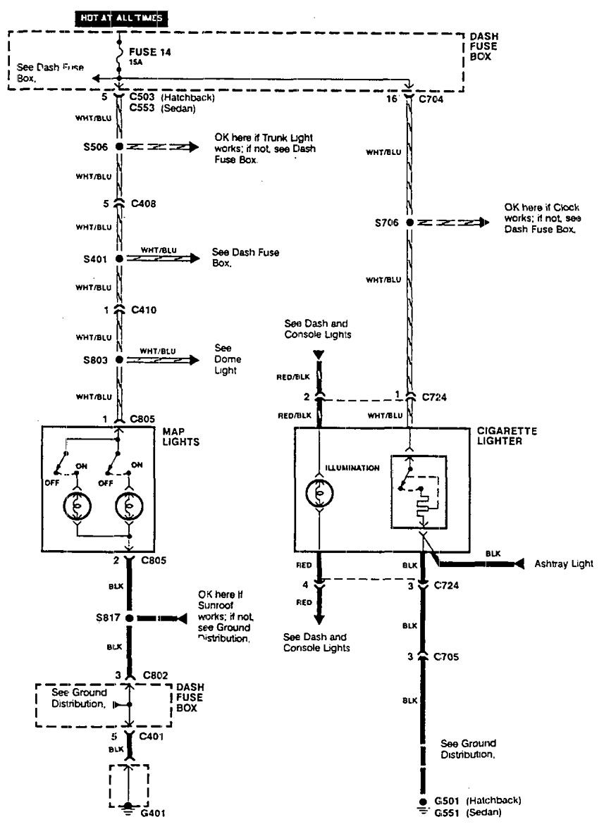 Acura Integra 1990 Wiring Diagrams Cigar Lighter Carknowledge Diagram