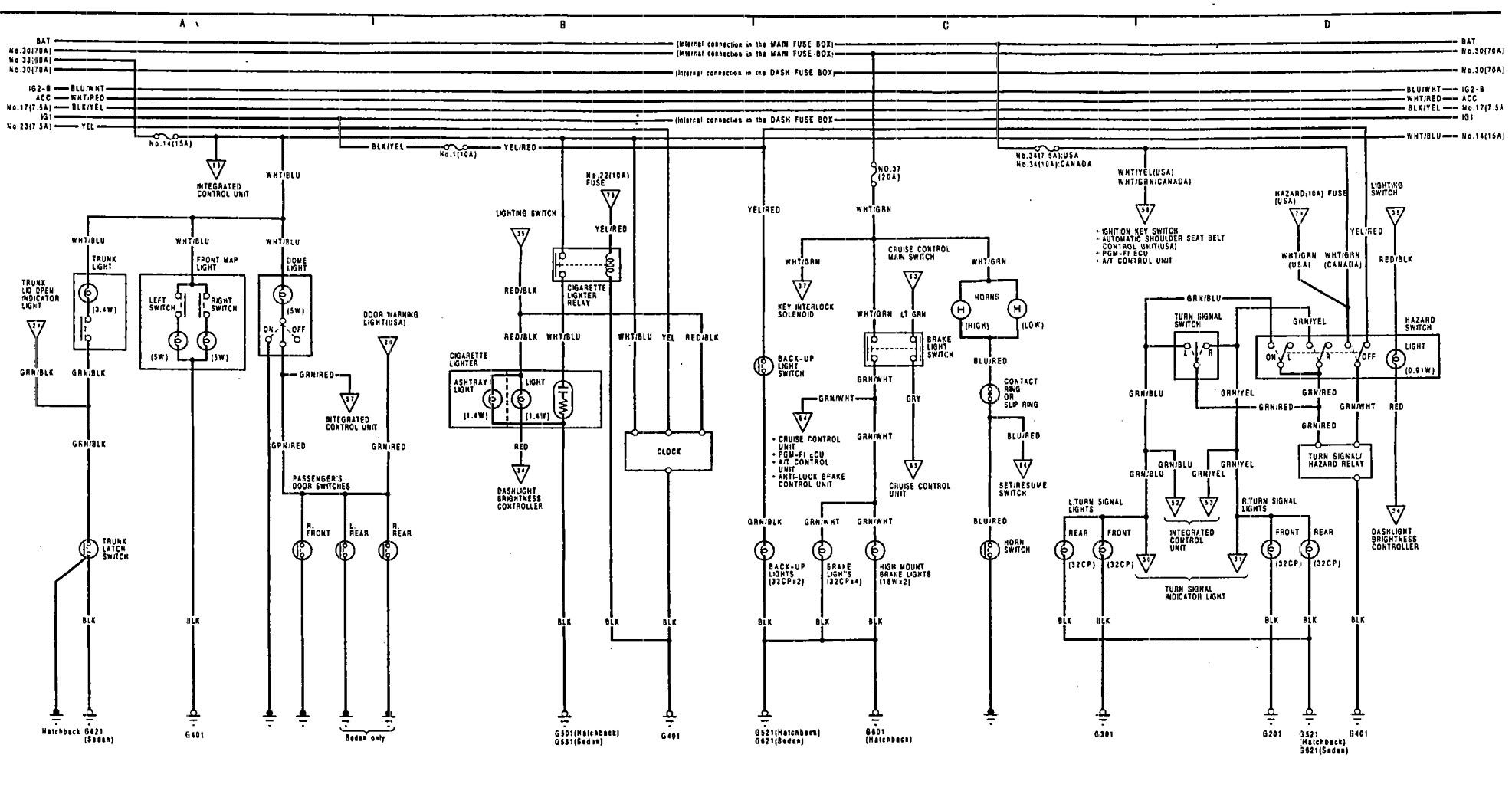 main relay 94 acura integra wiring diagram 1991 acura integra wiring diagram #15