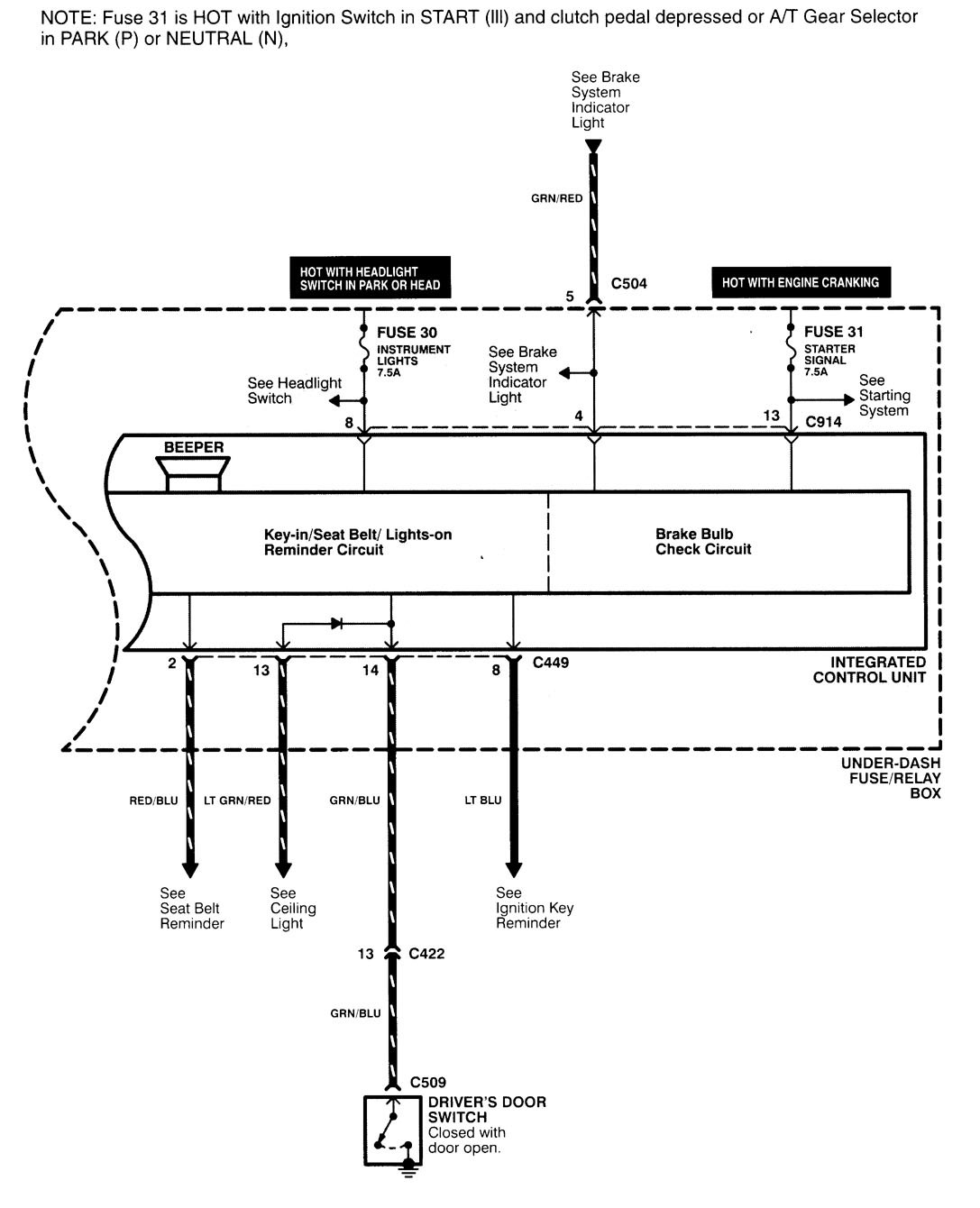 Acura Integra 2000 2001 Wiring Diagrams Computer Data Lines Diagram For Part 2