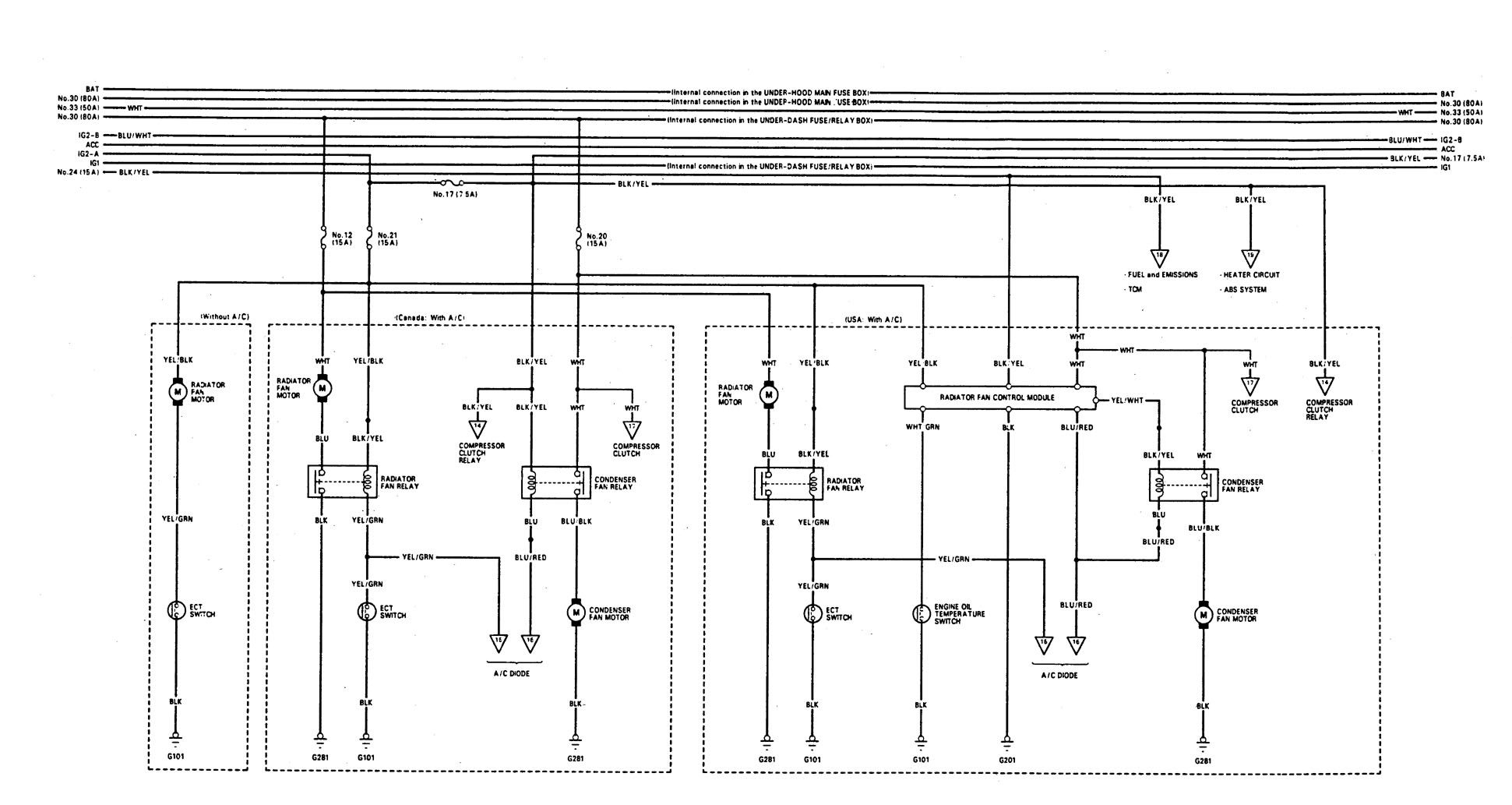 Acura Integra Wiring Diagram: Acura Integra (1993) u2013 wiring diagrams u2013 cooling fans u2013 CARKNOWLEDGE,Design