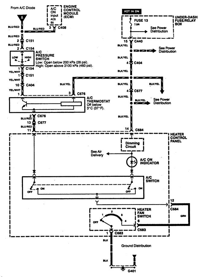 acura integra 1994 wiring diagrams cooling fans carknowledge rh carknowledge info 94 Integra Fuse Box Diagram Lightinh Integra Dash Wiring Diagram