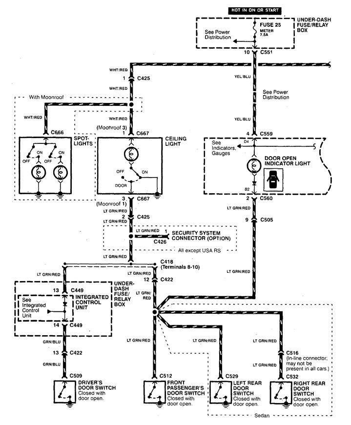 acura integra  1999  - wiring diagrams