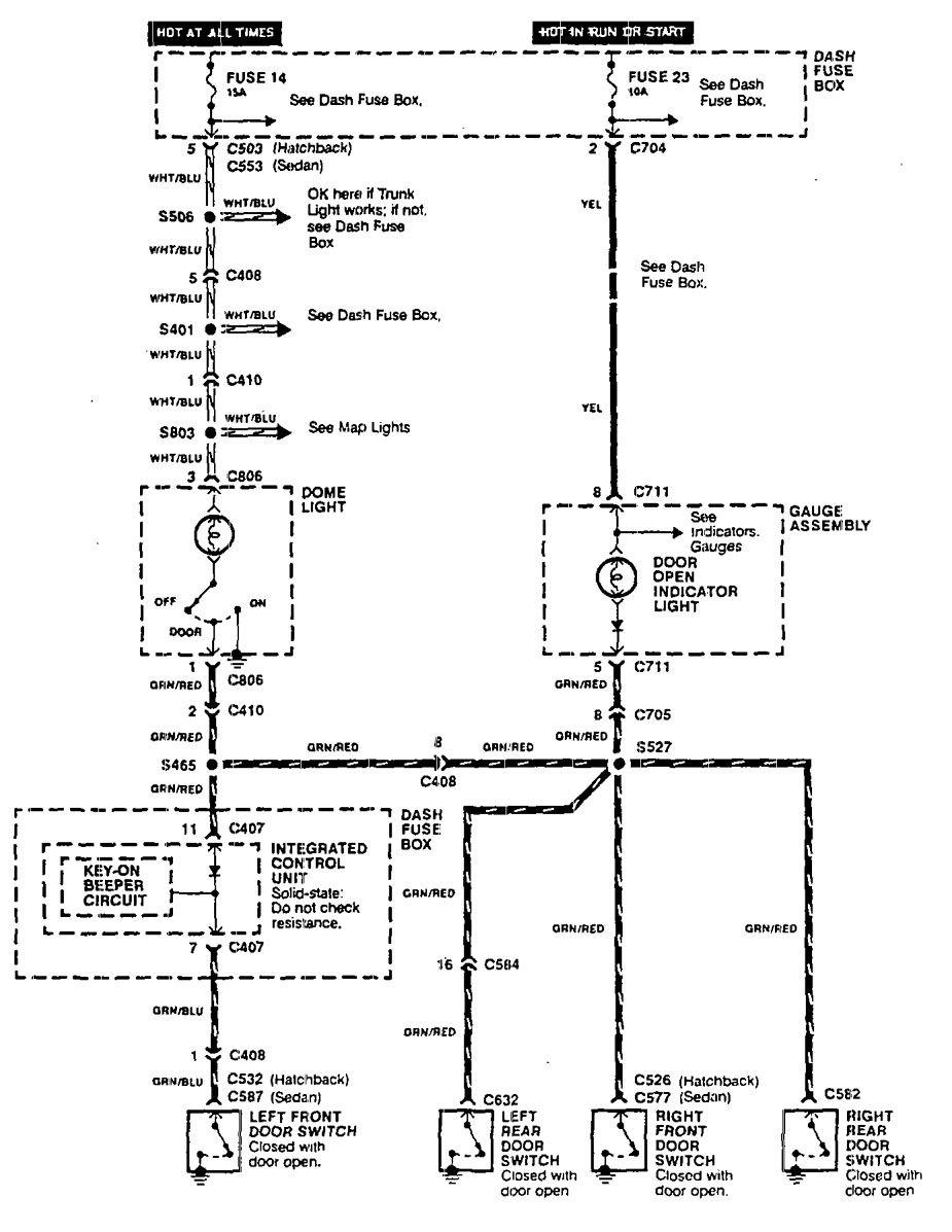 Acura Integra 1990 Wiring Diagrams Door Lamp Carknowledge 90 Diagram