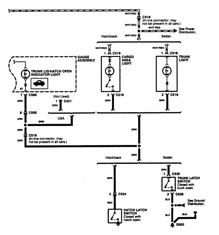 Acura Integra  1997  - Wiring Diagrams