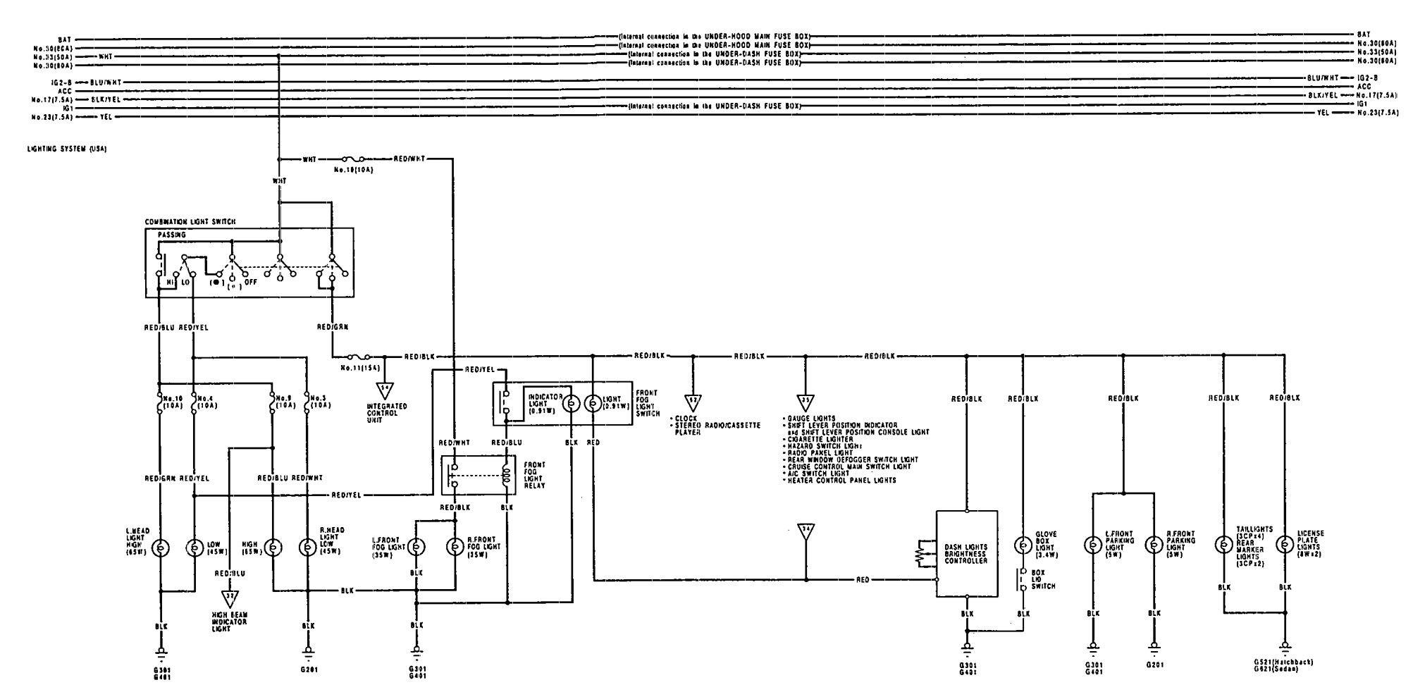 1992 Acura Integra Wiring Diagram