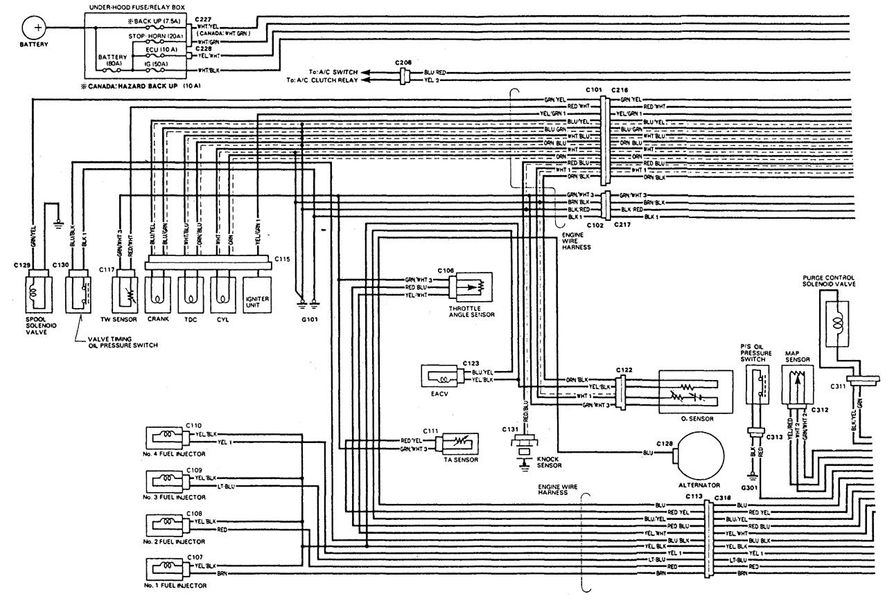 Acura Integra (1992) - wiring diagrams - fuel control - Carknowledge.infoCarknowledge.info
