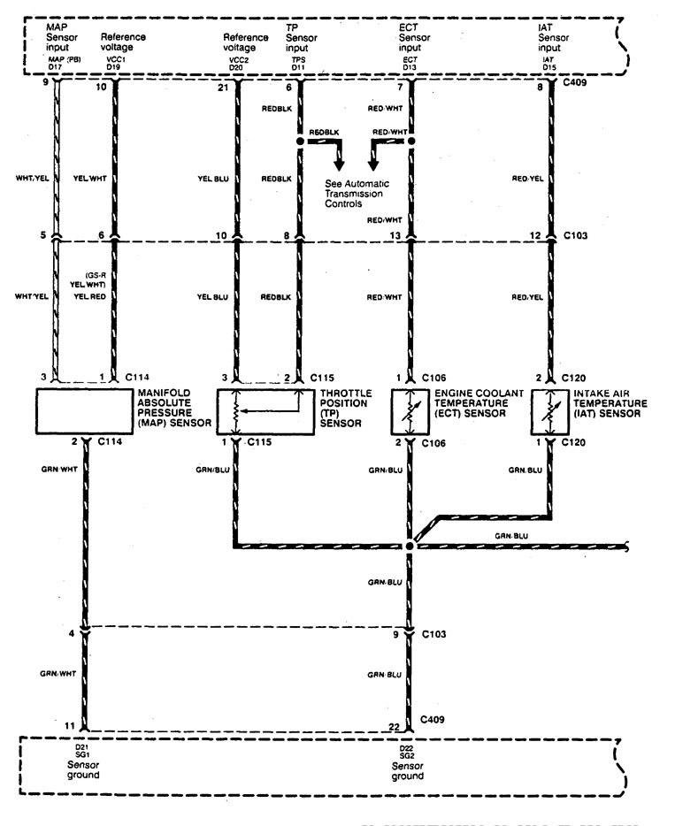 Acura Integra (1995) - wiring diagrams - fuel control ... on acura integra parts diagram, honda accord cooling system diagram, 94 honda accord egr diagram,