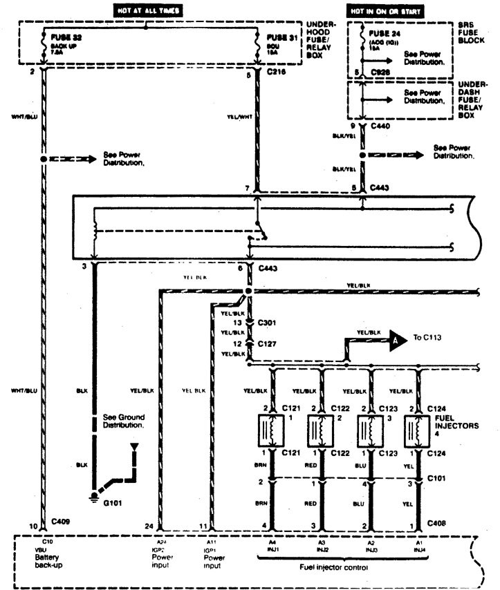 acura integra 1996  1997  wiring diagrams  fuel control