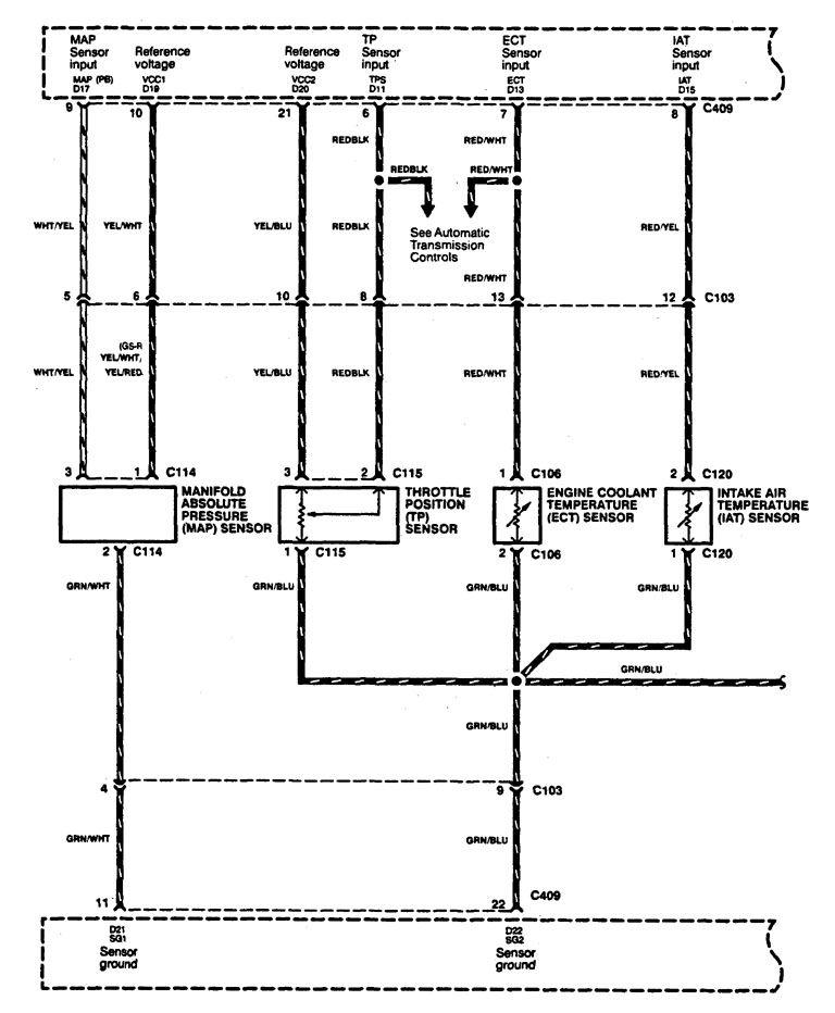 Acura Integra  1994  - Wiring Diagrams - Fuel Control