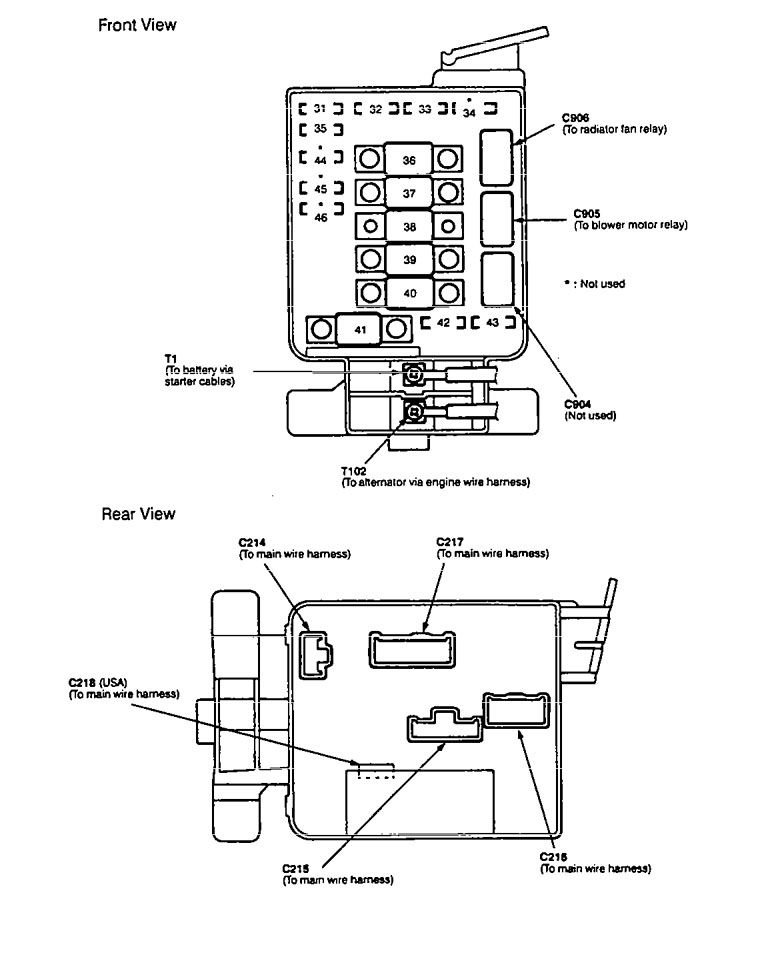 Acura    Integra     1994  1997   wiring    diagrams        fuse    block