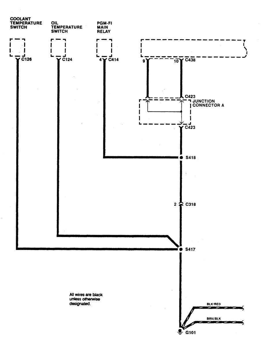 1990 Acura Integra Wiring Diagram Detailed Schematics 1997 Fuse Box Diagrams Ground Distribution 91