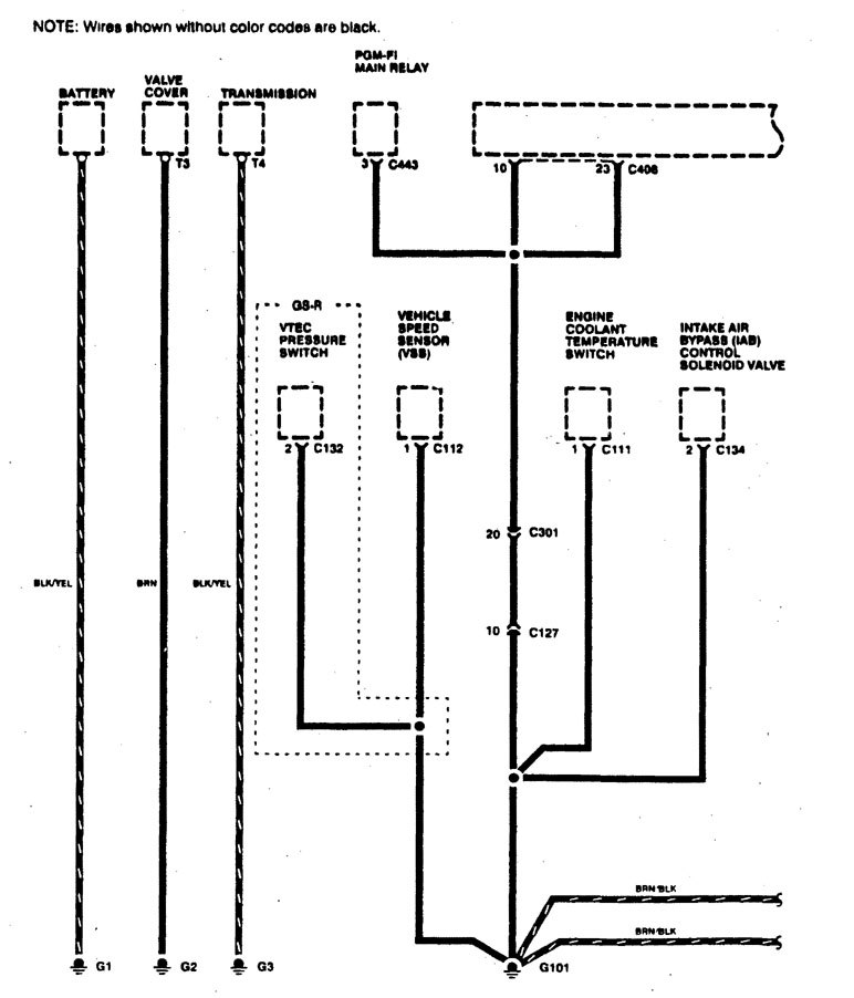 Acura Integra (1996) - wiring diagrams - ground distribution -  Carknowledge.infoCarknowledge.info