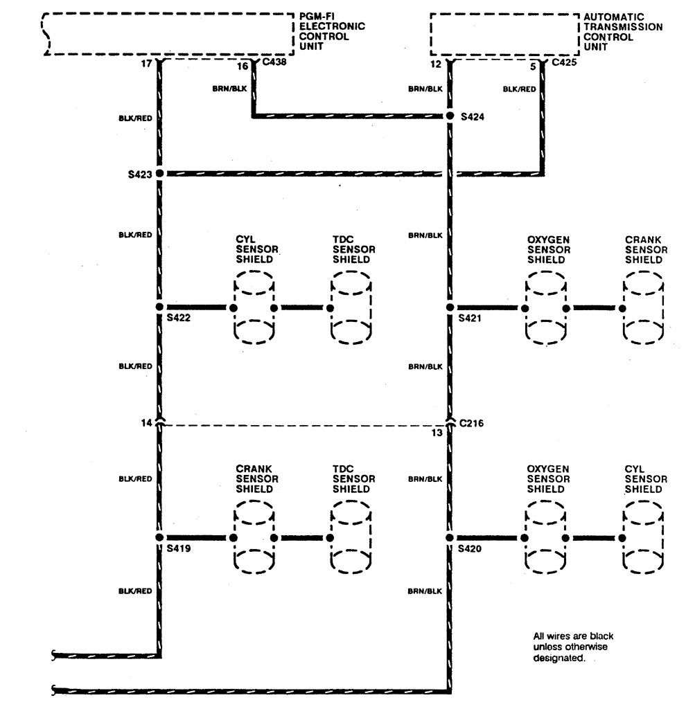 Acura Integra 1990 Wiring Diagrams Ground Distribution 2001 Mercedes Benz C280 Front Engine Fuse Box Diagram