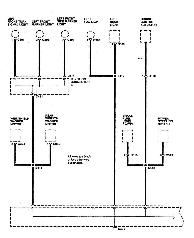 Acura Integra 1990 Wiring Diagrams Ground Distribution Transmission Sensor Diagram
