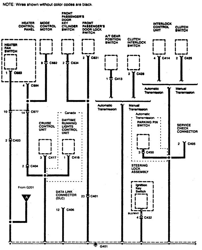 acura integra – wiring diagram – ground distribution (part 5)