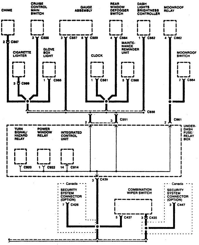 acura integra – wiring diagram – ground distribution (part 6)