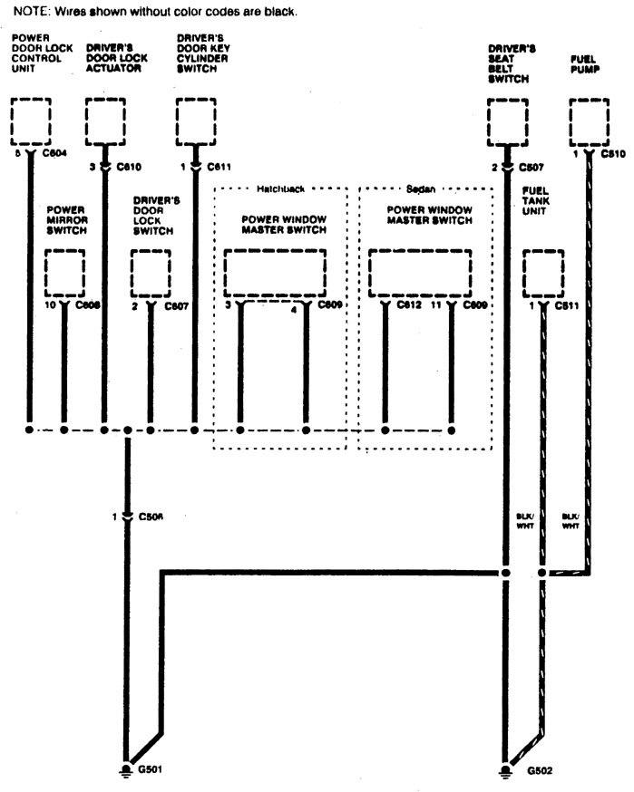 acura integra – wiring diagram – ground distribution (part 7)