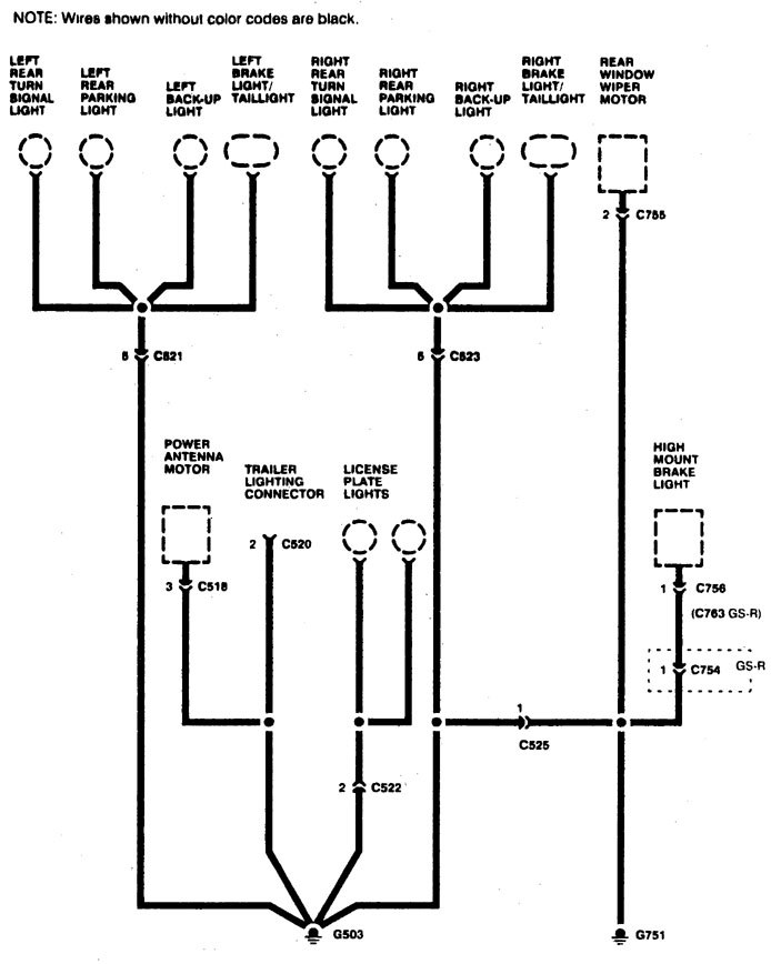 acura integra – wiring diagram – ground distribution (part 8)