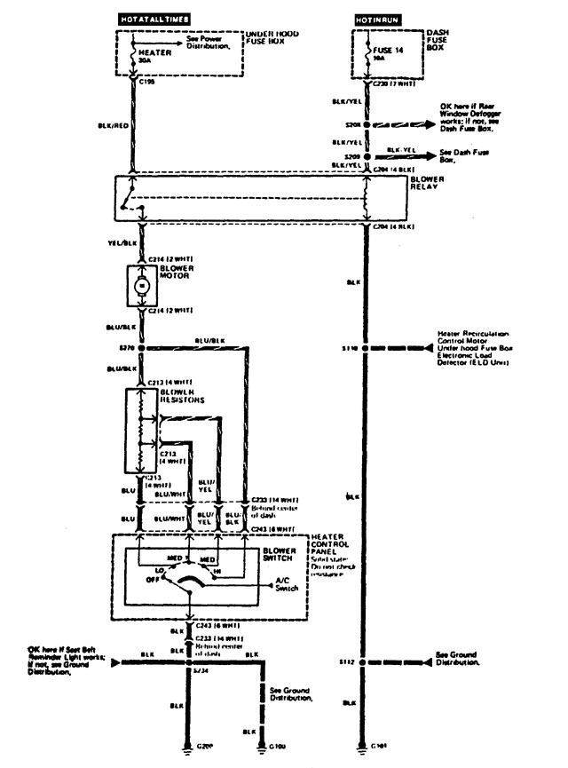 Hvac Control Wire : Acura integra wiring diagrams hvac control