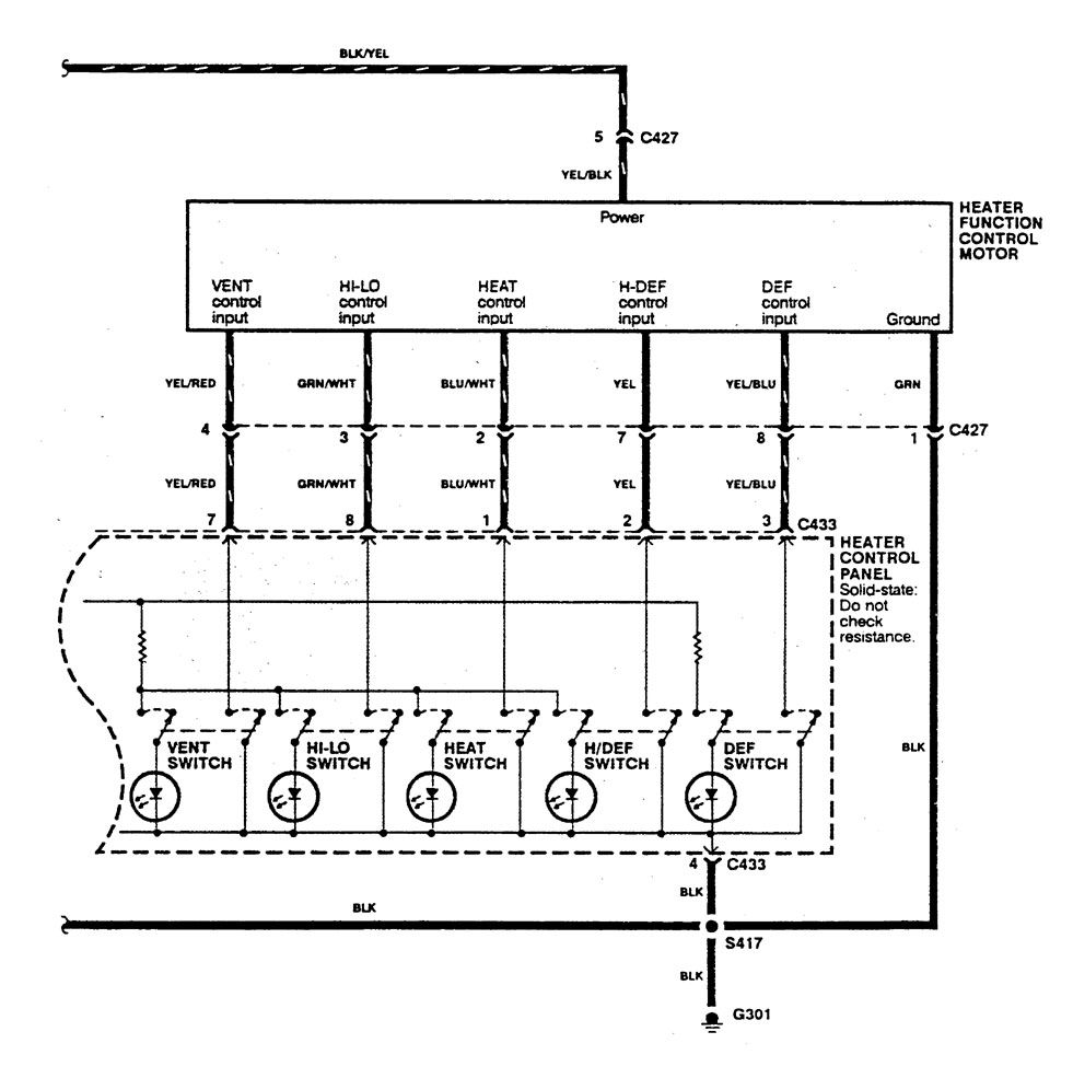 Acura Integra 1990 Wiring Diagrams Hvac Control Carknowledge 90 Diagram Hot In Run
