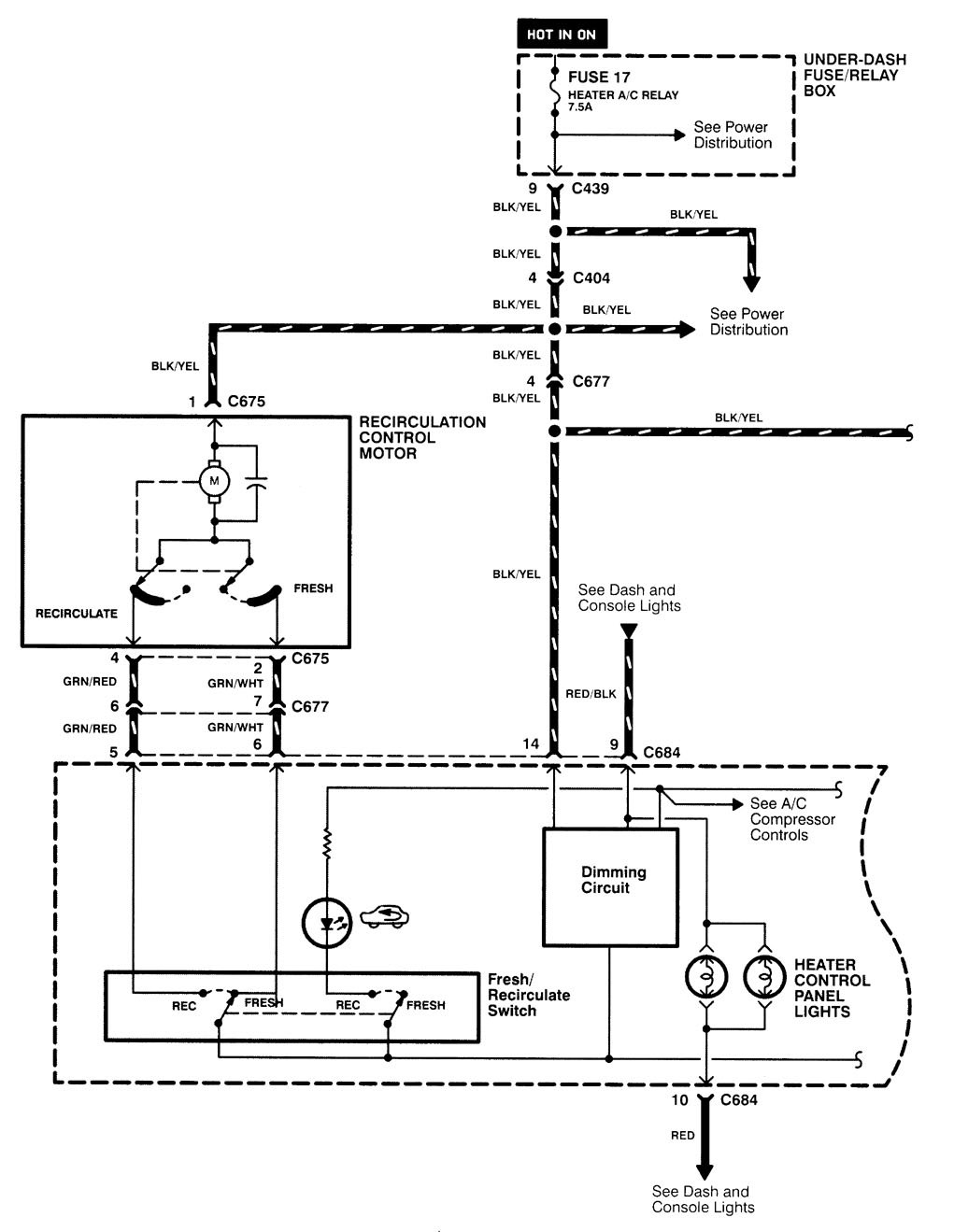 Acura Integra 1998 2001 Wiring Diagrams Hvac Control Wire Diagram Part 1