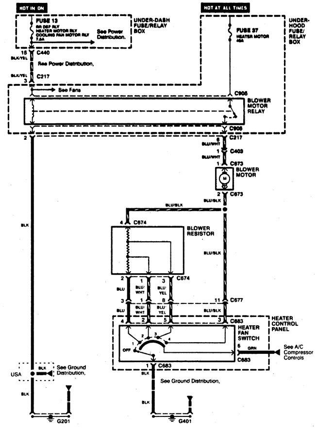 Acura integra wiring diagrams hvac control
