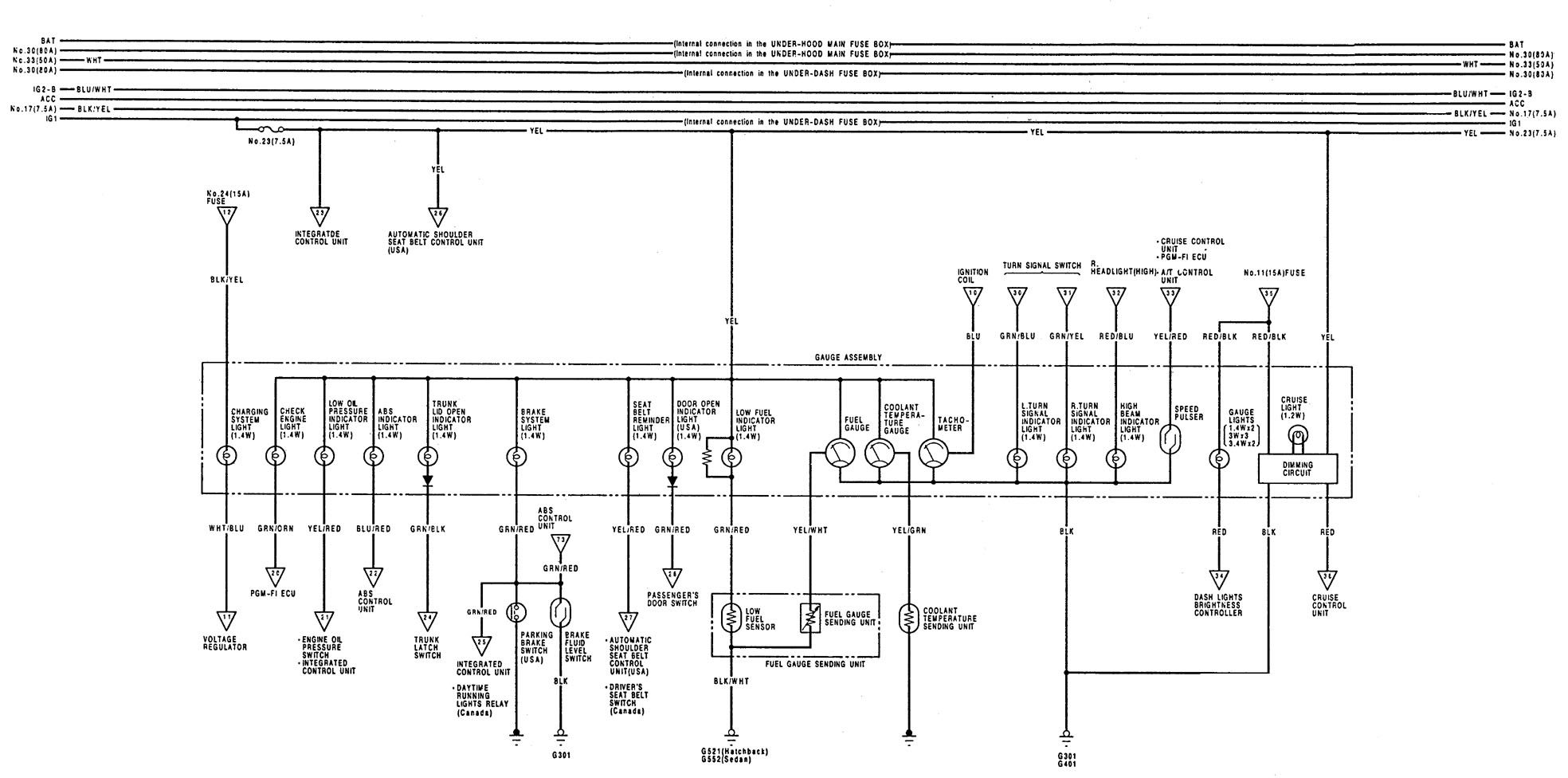 98 Nissan Quest Fuse Box Diagram Schematics Wiring Diagrams 2009 Fascinating 1993 Acura Integra Altima 1998